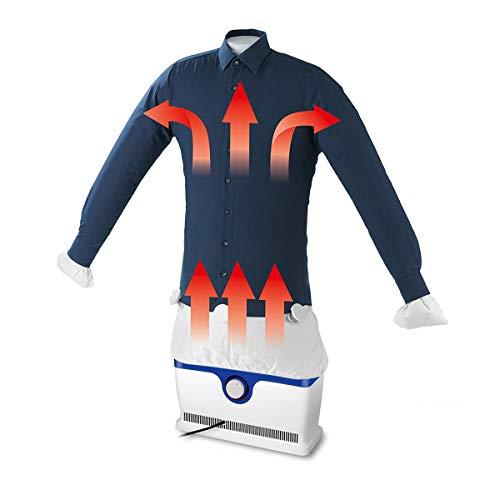 Ferro da stiro automatico - cleanmaxx macchina di stiratura per camicie, camicette, magliette & maglioni, asciuga e serisce i vestiti automaticamente in un solo passaggio (1800w)