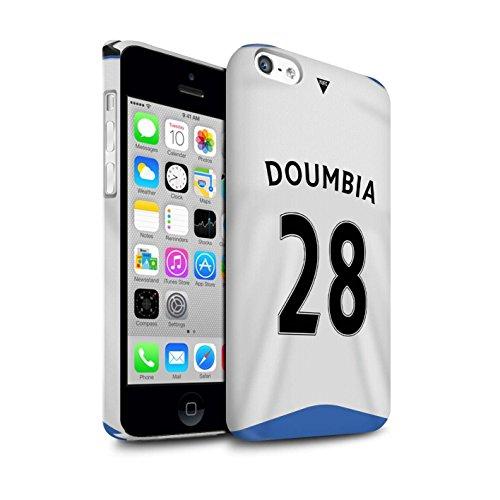 Offiziell Newcastle United FC Hülle / Glanz Snap-On Case für Apple iPhone 5C / Torwart Muster / NUFC Trikot Home 15/16 Kollektion Doumbia