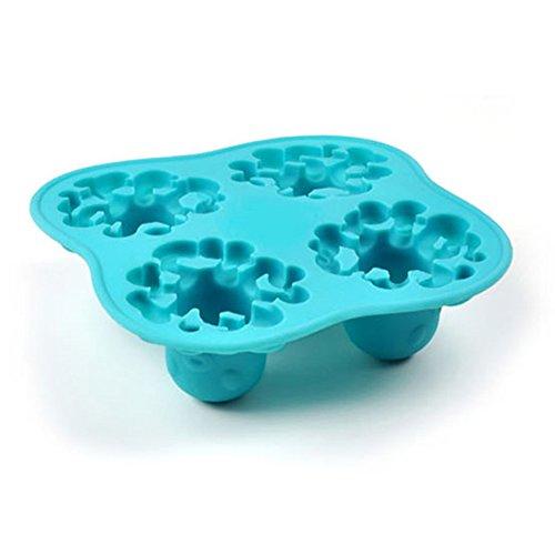 Hemore Creative Octopus Form Eiswürfelform Eiswürfelform DIY Sommer Eisform Trinken Werkzeug 1 Stück zufällige Farbe