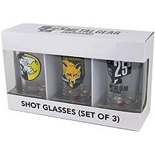 Metal Gear Solid Shotglasses Set 1 Bestehend Aus 3 Gläsern [Importación Alemana]