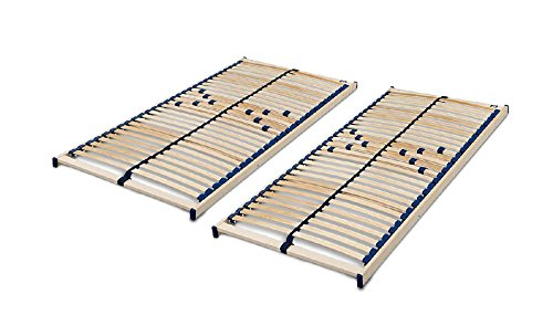 Malie Lattenrost Olymp Nicht verstellbar in 140 x 200 cm im Set bestehend aus: 2 x Lattenrost Olymp in 70 x 200 cm – ideal für Zwei Personen - fertig montiert und sofort lieferbar