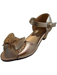 Sandalias de Vestir de Fiesta con Tacón para Niña - Adecuadas para Damas de Honor, Florista, Fiesta de Comunión