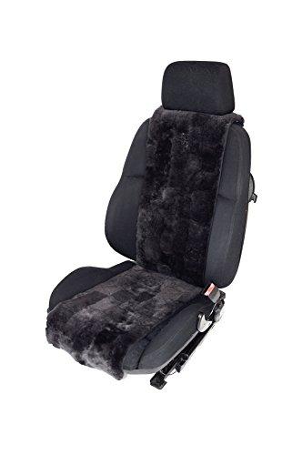Preisvergleich Produktbild Autositzauflage / Sitzaufleger Lammfell Breite 30cm x Länge138cm Patchwork (Schiefer)