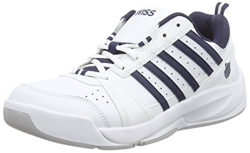 K-Swiss Performance KS TFW Vendy II Carpet Wht/Nvy - M, Herren Tennisschuhe, Weiß (White/Navy), 44.5 EU (10 Herren UK) (Tennis Schuhe Tennis-herren)