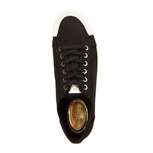 Michael Michael Kors Harlen Sneaker Fashion Sneakers Black Twill/Vachetta Leather