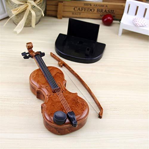 WarmHome Nuevo Caja de música de violín Dibujada a Mano Regalo de cumpleaños de Caja de música Mini Lindo Creativo (Style : Violin)