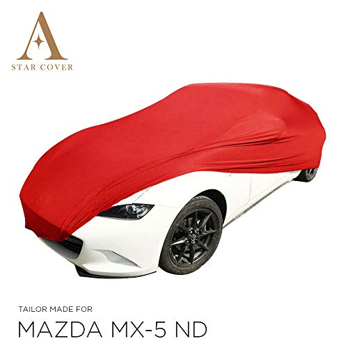 Star Cover Housse Voiture INTÉRIEUR Mazda MX-5 ND | Rouge Housse...