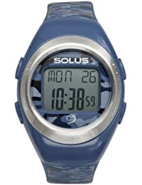 Solus Unisex Digital Watch with LCD Dial Digital Display and Blue Plastic or PU Strap SL-800-103