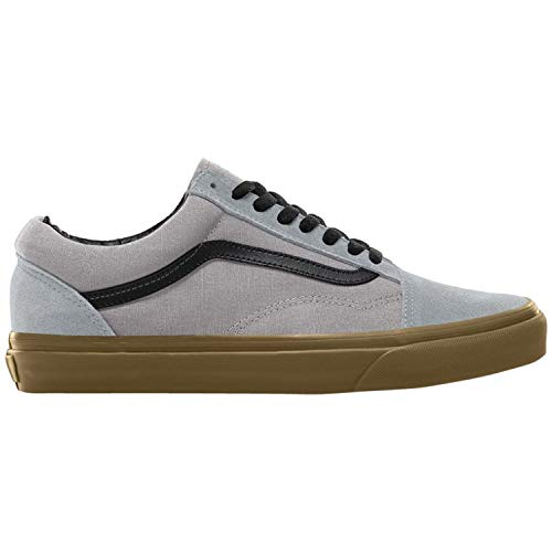 19f8cebfde Vans Men s Old Skool Gum Canvas Suede Lace Up Trainer Alloy Black-Grey