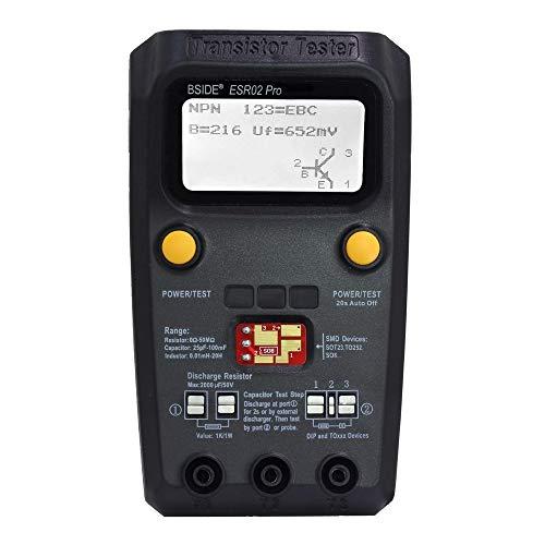 Digitaler Transistor SMD Komponenten Tester Diode Triode Kapazität Induktivität Multimeter ESR Meter(schwarz) Digital-multimeter Plug-in