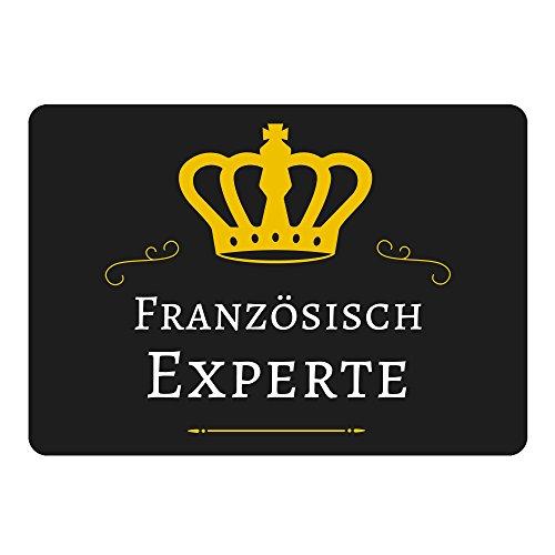 Mousepad Französisch Experte schwarz (Panty Französisch)