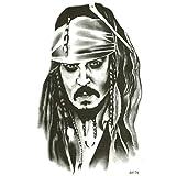 EROSPA® Tattoo-Bogen temporär - Captain Jack Sparrow - Fluch der Karibik