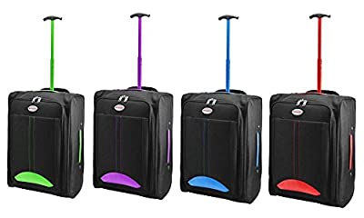 Humlin Branded Lightweight Wheeled Cabin Travel Bag Suitcase Case Hand Luggage Trolley Holdall Chancery Cabin Bag