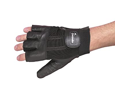 Homecraft Leather Wheelchair Gloves, Finger-Less, Padded Hand Protection for Manual Wheelchairs, Biking, Cycling, Fitness, Adjustable & Breathable (Eligible for VAT Relief in The UK)