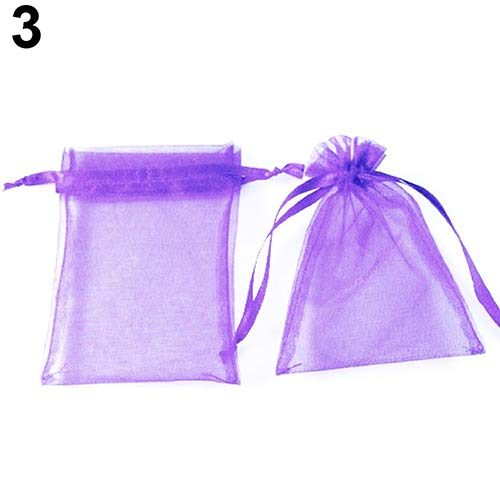 Jianchangsheng 50PCS festive days l' imballaggio organza Jewelry Pouches wedding favor sacchetti regalo Purple