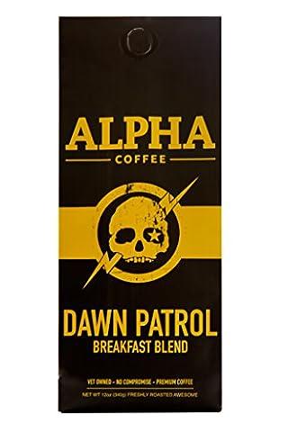 Alpha Coffee Dawn Patrol - Breakfast Blend 12 oz WHOLE BEAN