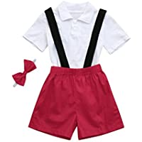 42a4f35f194cc PAOLIAN Conjuntos para Unisex Bebe Niños Camisas y Pichi y Corbata Verano 2018  Ropa para Recién
