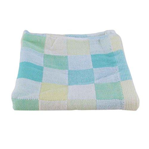 Bodbii 28 * 28cm Quadrat Handtücher Baumwollgaze Kariertes Tuch Kinder Lätzchen täglichen Gebrauch Hand Gesicht Handtücher für Kinder -