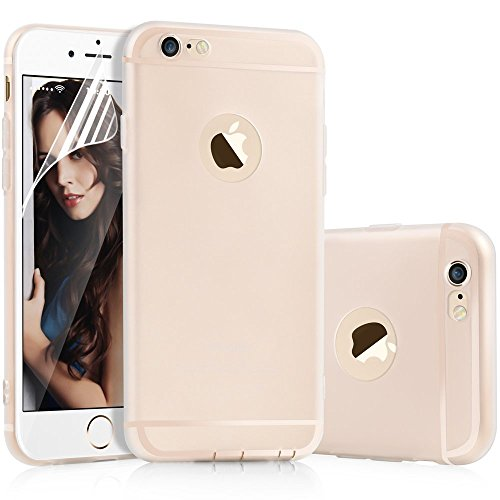 Custodia per iPhone 6 Plus, Cover per iPhone 6S Plus, Aksuo Ultra Sottile Slim Morbida [Leggera] Trasparente Silicone Gel Cover TPU Antigraffio Antiscivolo Case Cover per iPhone 6 Plus 6S Plus (5.5 ) Bianca