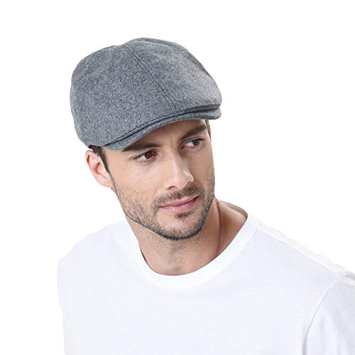 ütze Golfermütze Schiebermütze Wool Newsboy Hat Flat Cap SL3021 (Darkgray) ()