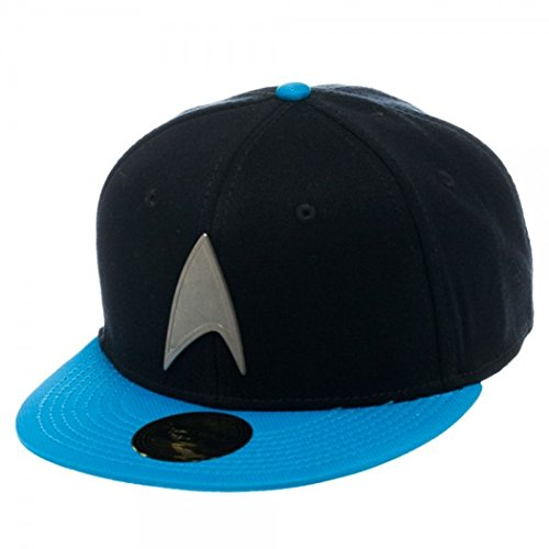 Star Trek Metal Badge Blue Snapback Baseball Cap
