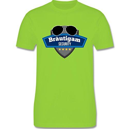 JGA Junggesellenabschied - Bräutigam Security Police - Herren Premium T-Shirt Hellgrün