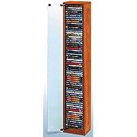 Mueble para DVD DE Madera con Puerta DE Cristal/Capacidad para 64 DVD - Ref.1775