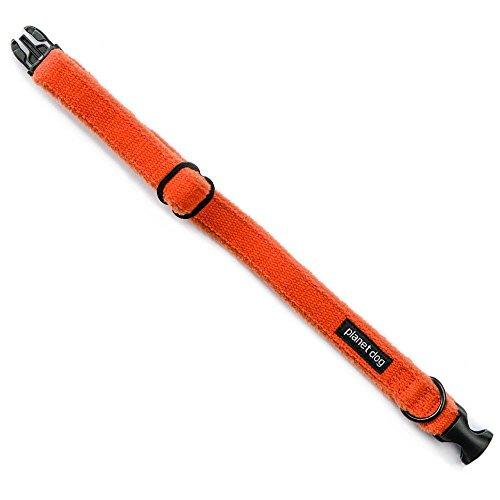 Planet Dog Hundehalsband, bequem, aus Hanf, verstellbar, l, Orange -