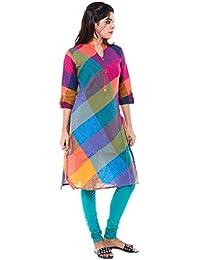 86cbd87c670 Cross Colors Candy Color Women s Top Cotton Kurti Women s Kurta - Multi  Color