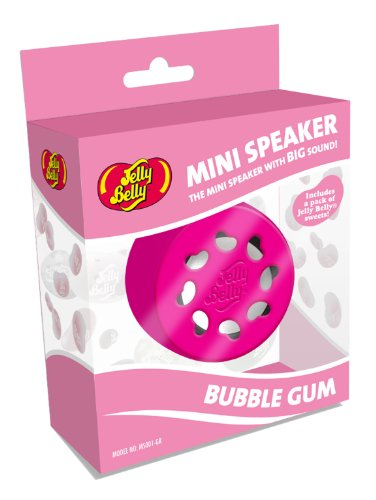 Jelly Belly Portable Mini Speaker for iPhone/iPod/iPad/MP3 Player/Laptop - Bubble Gum