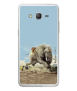 PrintVisa Elephant In Action High Gloss Designer Back Case Cover for Samsung Galaxy On5 Pro (2015) :: Samsung Galaxy On 5 Pro (2015)