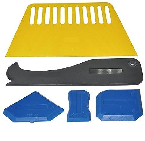 Malloom 2017 New 5 Pieces Sealant Tool Caulking Tool Kit