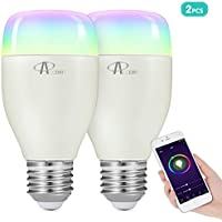 Bombilla LED inteligente WiFi regulable y lámpara multicolor Funciona con Alexa, Echo, Google Home y IFTTT