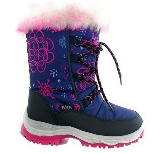f62e803bc12757 AXA SHOES Doposci Bambina Ski Stivali da Neve - Colore Blu - Numero 26