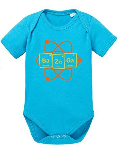Bazinga im Periodensystem Baby Strampler Body, Größe:68;Farbe:Türkis