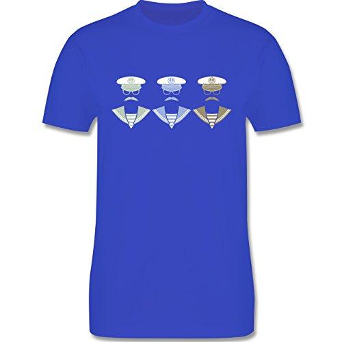 Schiffe - 3 Matrosen - Herren Premium T-Shirt Royalblau