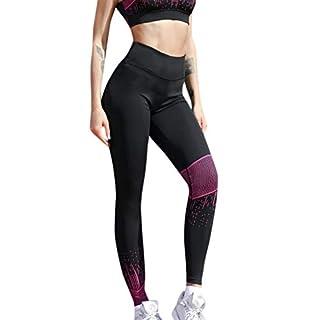 OIKAY Sport Leggings Damen Printed Trainingshose für Laufen Yoga Workout Frauen Hohe Taille Yoga Shantou Flügel Print Legging Laufen Sporthose Hose