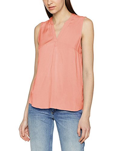 TOM TAILOR DENIM Damen Bluse Comfy Blouse Top Rosa (Vintage Coral Rose 4748), 42 (Herstellergröße: XL) (Vintage V-neck Tunika)