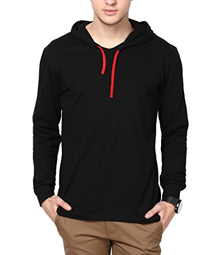 Inkovy Men's Full Sleeves Hoodie (INKOVY-HOOD-FULL-BLACK-M_Black)