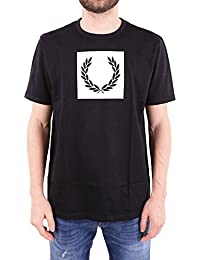 Fred Perry Men's FPM360125102 Black Cotton T-Shirt