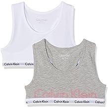 Calvin Klein Mädchen Unterwäsche-Set Modern Cotton (Lg) 2 Pack Bralette Print