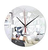 Y-WEIFENG Orologio da Parete familiare Creativo 3D Creativo Acrilico Decorativo Creativo dell'orologio di Parete dell'obiettivo di dardi