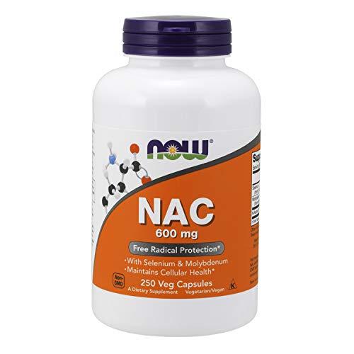 Now Foods | NAC | 600 mg | 250 cápsulas vegetales | sin gluten y soya