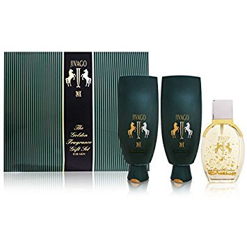 Jivago 24K by Ilana Jivago for Men The Golden Fragrance 3 Piece Set Includes: 3.4 oz Eau de Toilette +...
