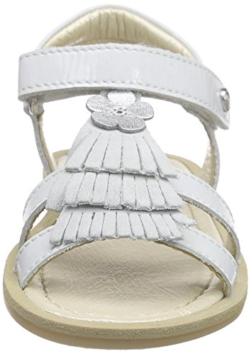 Naturino 3939, Sandales Bout Ouvert Fille Blanc (VERNICE BIANCO)