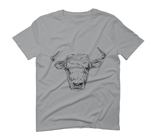 Bull lllustration Men's Graphic T-Shirt - Design By Humans Opal
