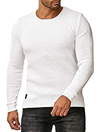 9bec0cdd1043 Red Bridge Mens Knit Pullover Round Collar Casual Basic Classic Ribbed  Sweater