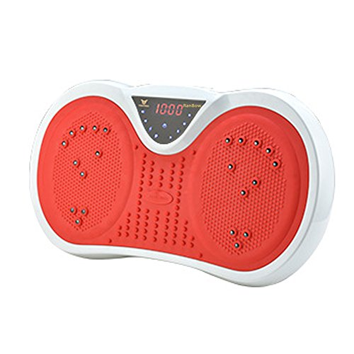 RanBow Vibrationsplattform mit MP3-Player - Ganzkörper-Vibrationsplatte Übung Fitness-Maschine mit Riemen und Romote Control