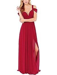 Yacun Mujeres De Largo Maxi Vestido De Dama De Honor Vestido De Fiesta Por La Noche