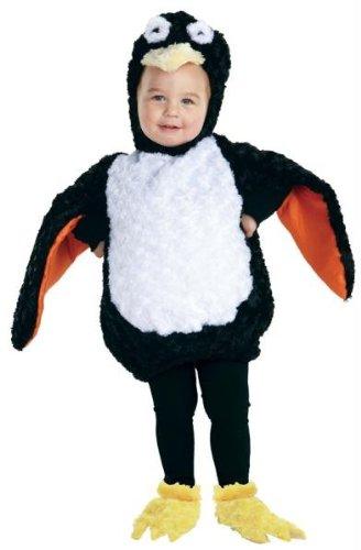 Halloween Kostüm Party Kleidung Festival Fasching Karneval Cosplay Retro Mode Fun Kinder Cute Niedlich Kostüm Pinguin Kleinkind (Bodysuit + Kapuze + Schuhabdeckungen) - Kindergröße 2-4 (Kleinkind Pinguin-halloween-kostüm Für)